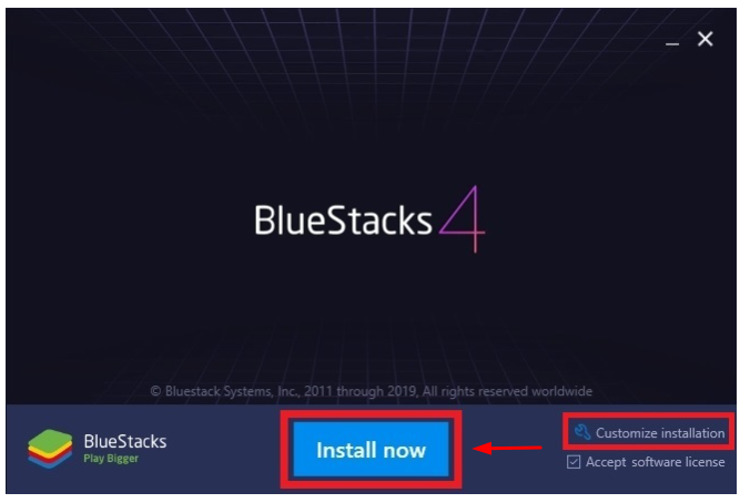 install bluestacks